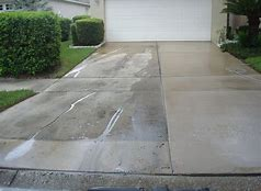 Pressure Wash Extended Driveway